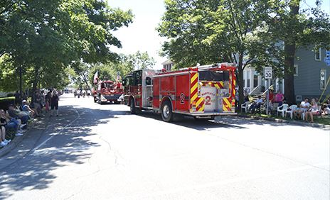 Fire departmen parade